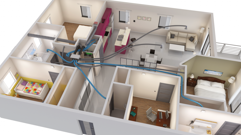 installation VMC double flux